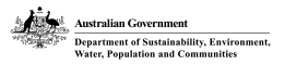 Australian Government Department of Sustainability, Environment, Water, Populations and Communities